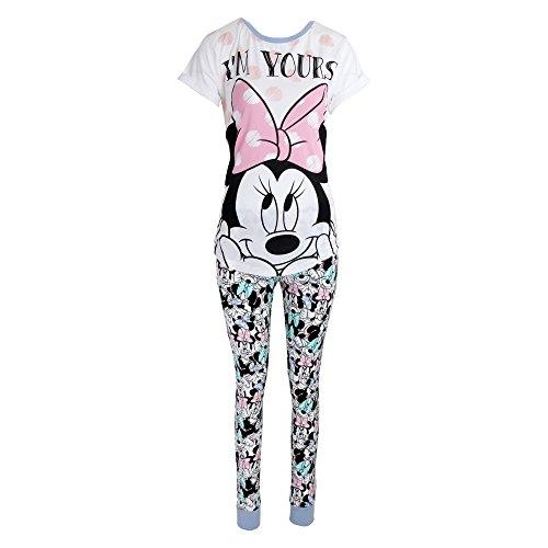 Disney Damen I'm Yours Minni Maus Baumwolle Pyjama (38-40 DE) (Weiß/Pink)