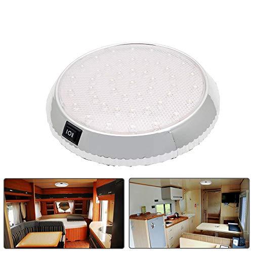Maso - Luz interior de coche, 12VCC, 46 LED, para techo, con interruptor de encendido/apagado, para caravana, autocaravana, barco, cocina, sala de estar