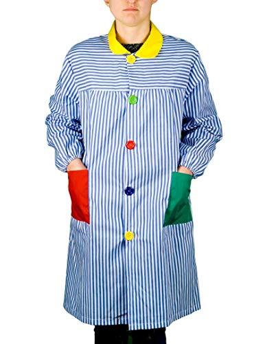 KLOTTZ 902C - BATA ESCOLAR EDUCADORA RAYAS mujer color: AZUL talla: S/M