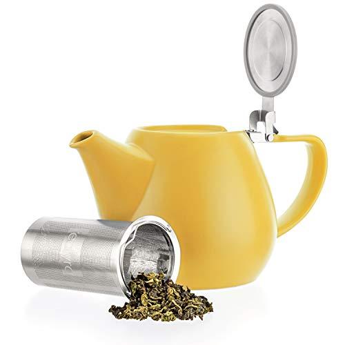 Tealyra - JOVE Porcelain Large Teapot Yellow - 1000ml (3-4 Cups) - Japanese Made - High...