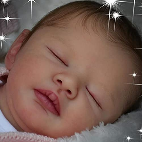 JinYiZhaoMing Reborn Dolls Kit,21 pulgadas, 700G realista recién nacido bebé niña muñeca enraizada ropa suave vinilo silicona muñeca recién nacido