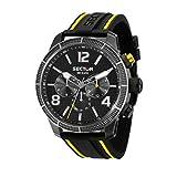 SECTOR Herren Analog Quarz Uhr mit Silikon Armband R3251575014