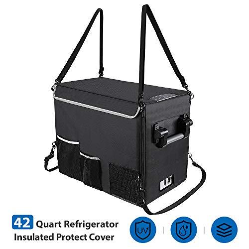 JOYTUTUS Insulated Protective Cover for 42 Quart Portable Refrigerator Fridge Freezer