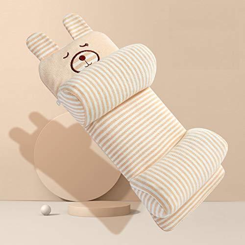 almohada bebe,plagiocefalia,cojín antivuelco,Almohada moldeadora de bebé recién nacido Almohada de algodón transpirable para bebé Almohada moldeadora infantil ajustable de dibujos animados