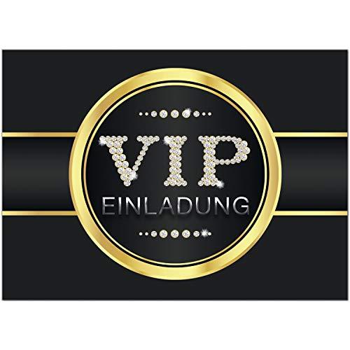 16 Einladungskarten VIP Party für Einweinung, WG, Party oder als Einladungen für Kinder zum Geburtstag im Set