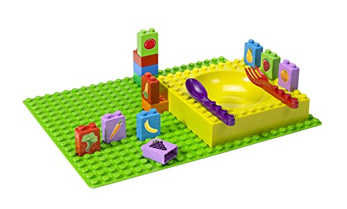 Abeba Placematix PM106021 - Módulo de Aprendizaje Infantil para Frutas y Verduras, plástico, 45x 35x 25cm, 12Piezas, Multicolor