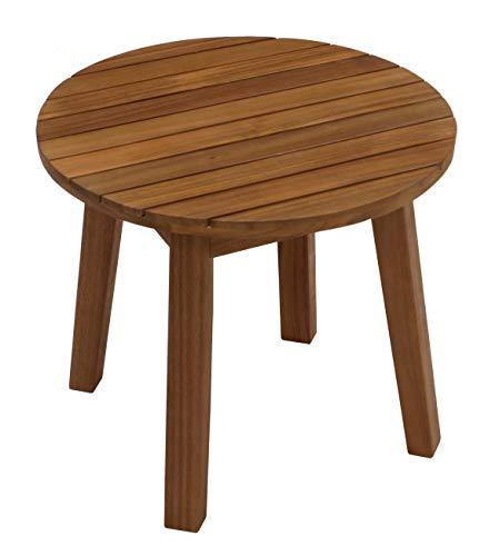 DEGAMO Beistelltisch Montevideo aus Akazien Holz, runde Form, 50cm Durchmesser, Oberfläche geölt