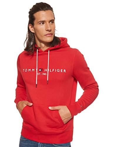 Tommy Hilfiger Herren Tommy Logo Hoody Sweatshirt, Rot (Haute Red 611), XX-Large (Herstellergröße:XXL)