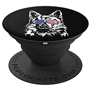 Funny Proud White Swiss Shepherd Dog American Flag gift dog PopSockets Grip and Stand for Phones and Tablets 5