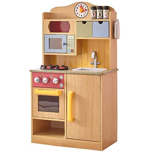 Teamson Kids Juguete De Cocina Infantil De Madera para Niños & 5 Accesorios TD-11708A