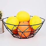 Wffo - Cesta de metal geométrica para frutas y verduras, diseño de cesta de caramelos