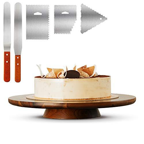 Wood Cake Stand Acacia – 13 inch