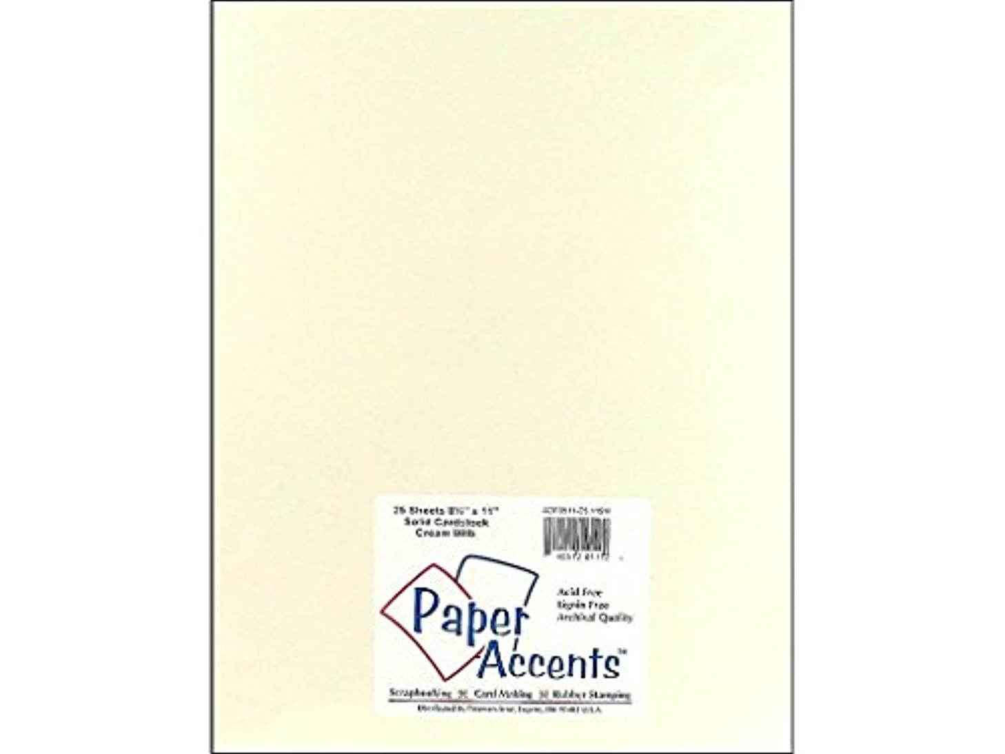 Accent Design Paper Accents 80lb Cdstk Smooth 8.5x11 80# Cream
