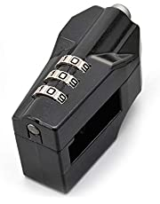 デイトナ バイク用 ヘルメットロック ダイヤルタイプ ブラック 22.2mm/25.4mmハンドル装着可能 95206