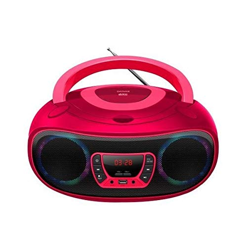 Radio met cd- en mp3-speler en Bluetooth Denver Electronics TCL-212MT 4W Roze (S0425137)