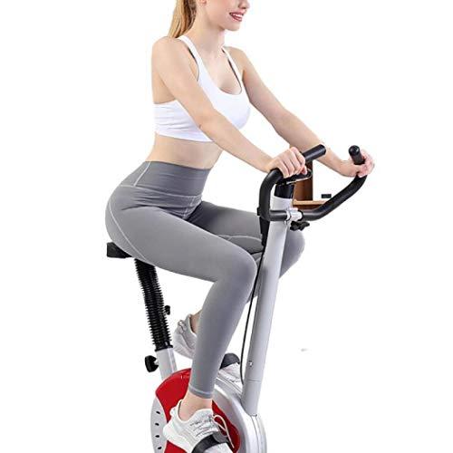 LLUO Sportuitrusting Indoor Fietsfiets, Oefening Fiets Stationaire Fiets Riem Drive Verstelbare Zit en Stuur