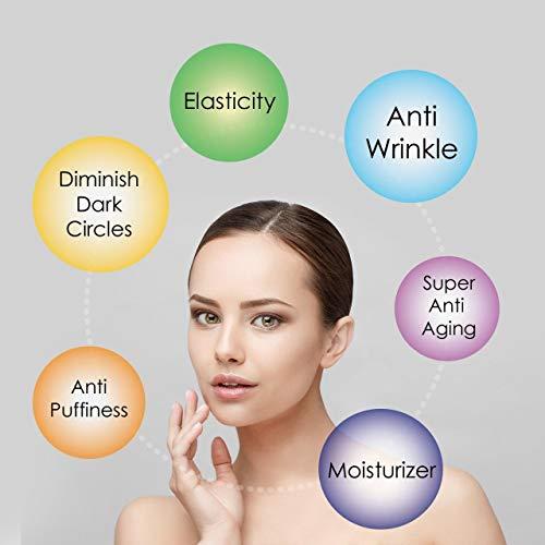 41znNN yH4L - Eye Serum & Eye Roller for Anti Aging Dark Circles Puffiness Under Eye Bags Wrinkles Eye Cream Massager with Peptide Hyaluronic Acid Niacinamide 0.7 fl.oz by beaueli