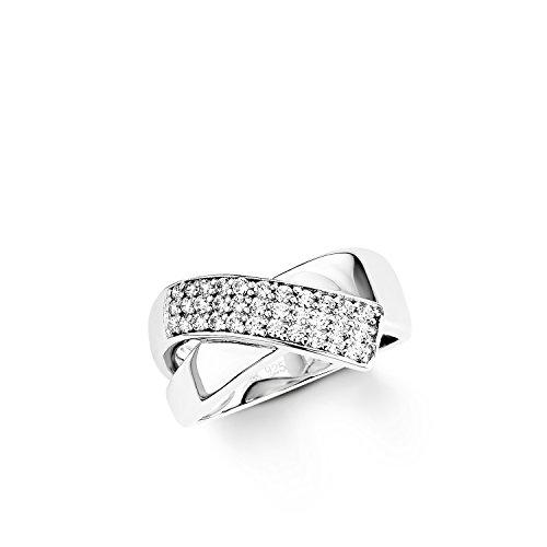 Amor Damen-Ring 925 Sterling Silber rhodiniert glänzend Zirkonia weiß 452571