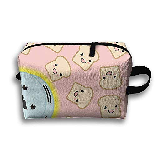 Travel Cosmetic Bags Brush Pouch Toast Toaster Cosmetic Makeup Tool Bag Storage Pouch