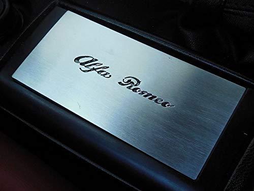 Interieur Stahlabdeckung für Alfa_Romeo GTV & SPIDER (916) - 1 Stück Mittelkonsole Platte Zubehör Edelstahl Gebürstet Blenden Cockpit Dekor Mass Angefertigt