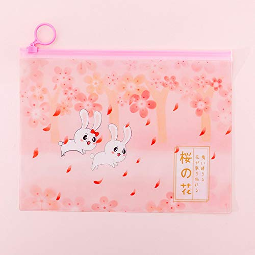 classement un comparer FICI3pc Pencil Bag Girls Sakura File Student Bag avec Zipper Papeterie Bag Pencil Bag…
