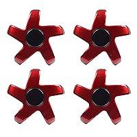 YFAM テスラモデル3ホイールハブセンターカバー車の車輪保護カバー装飾カバーフィットカースタイリングのためのフィット (Color : Black red)