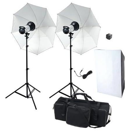 ハイスペック600W デジタルモノブロックストロボ2灯シンプル撮影照明機材セットST60002-2-N