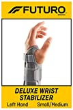 FUTURO-MMM-356 Deluxe Wrist Stabilizer, Helps Support Symptoms of Carpel Tunnel Syndrome, Weak or Injured Wrists, Breathable, Small/Medium