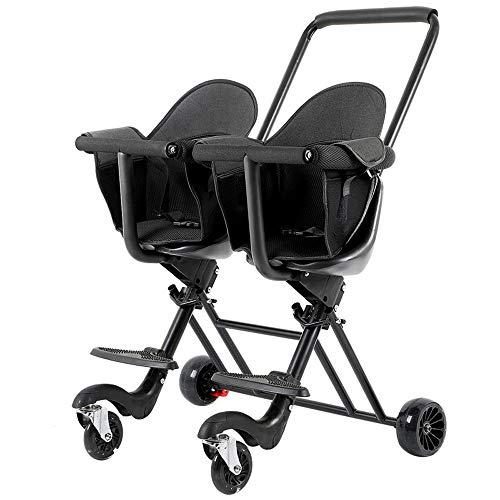 Double Two-Wheeled Trolley, Vierwielig Voertuig Met Brake, Kan Gemakkelijk Worden Gevouwen Wanneer Gaan Outdoors