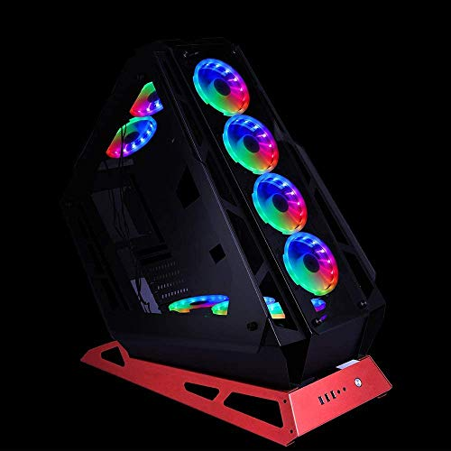 GIM KB-23 RGB Case Fans, 3 Pack 120mm Quiet Computer Cooling PC Fans, Music Rhythm 5V ARGB Addressable Motherboard SYNC/RC Controller, Colorful Cooler Speed Adjustable with Fan Control Hub