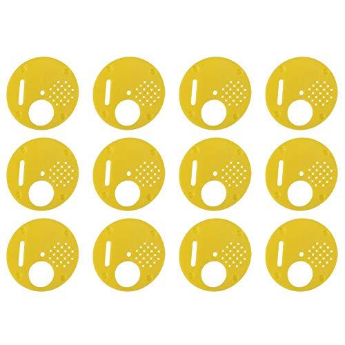 oueaen Bee Nuc Box - 12 Pezzi/Set Scatola di plastica Beehive Nuc Cancelli d'ingresso Attrezzatura per Apicoltura
