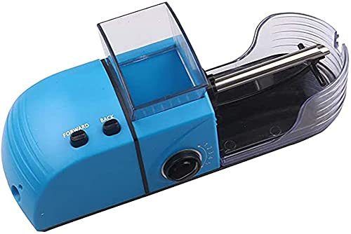 HHORB Máquina para Liar Cigarrillos,Maquina para Liar Tabaco,Tubos Liar Tabaco,Maquina De Llenado De Cigarrillos Electrica Entubadora De Cigarros Tubos Liar Tabaco Portatil,Azul,1pcs