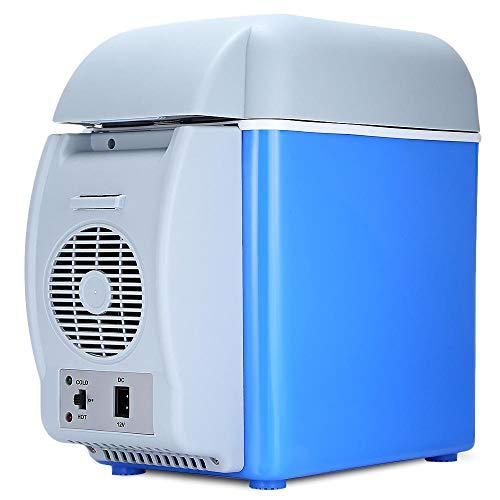 YINGGEXU Mini refrigerador de 12 V 7,5 l portátil para coche, congelador, multifunción, doble uso, calentador de refrigerador, compresor eléctrico termoeléctrico (nombre del color: como se muestra)