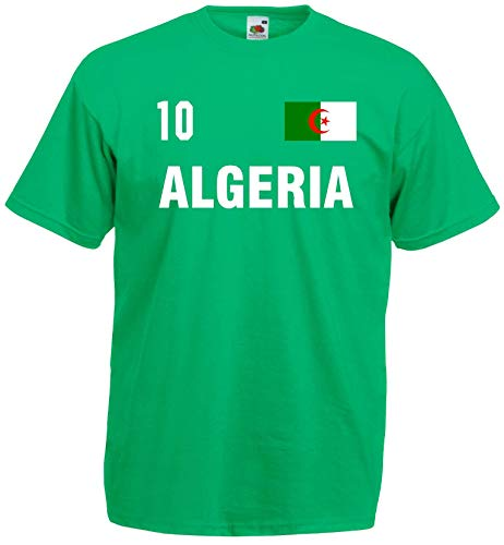 world-of-shirt Herren T-Shirt Algerien im Trikot Look 1