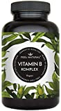 Vitamin B Komplex Kapseln. Besonders hochdosiert (10x). 180 vegane Kapseln im 6 Monatsvorrat. Mit...