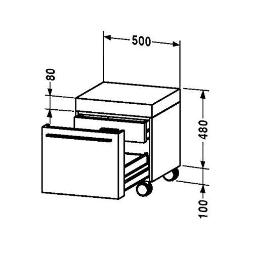 Duravit Rollcontainer Fogo 550x500x480mm 1 Auszug, eiche gekalkt, FO954306565