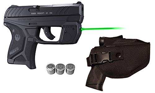 Laser Kit for Ruger LCP II (LCP 2) w/Tactical Holster, Touch-Activated ArmaLaser TR12-G Green Laser Sight & 2 Extra Batteries