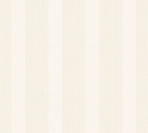 Esprit Vliestapete mit Glitter Minimalistic Authenticity Tapete mit Blockstreifen 10,05 m x 0,53 m beige creme metallic Made in Germany 357131 35713-1
