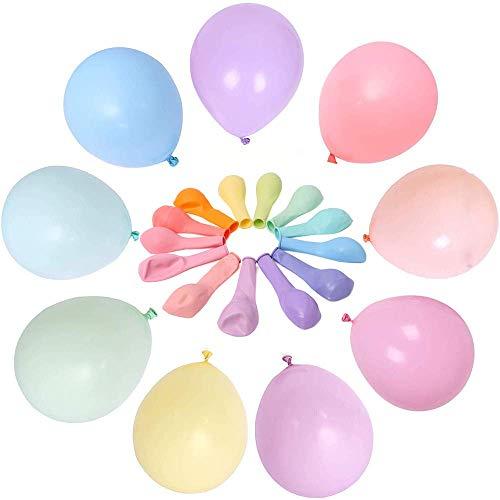 Luftballons Pastell,100 Stücke Latex Farbige Ballons, Bunt Luftballoons für Party Dekorative Ballons,Geburtstag Hochzeit Engagement Baby-Dusche , Graduierung(Zufällige Farbe)