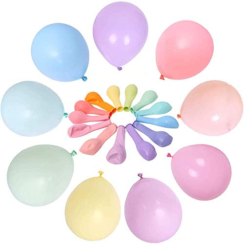 Luftballons Pastell,100 Stücke Latex Farbige Ballons, Bunt Luftballoons für Party Dekorative Ballons,Geburtstag Hochzeit Engagement Baby-Dusche,Graduierung