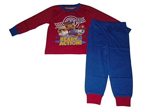 Paw Patrol – Conjunto de pijama para niño, multicolor, rojo y azul Multicolore - Red & Blue 5-6 Años
