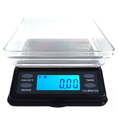 Dipse MTW Serie - Digitale Mini Tisch Waage mit Schutzdeckel 200g x 0,01g / 500g x 0,1g