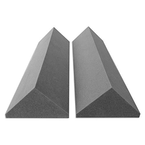 2 Bass-Trap Absorberelemente, 100cm hoch, Eckabsorber Breitbandabsorber, Akustikschaumstoff