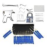 LPWCAWL Lockpicking Set, Vorhängeschloss Picking Tools, Entsperrwerkzeug mit Transparentem Übungsschloss, Geeignet...