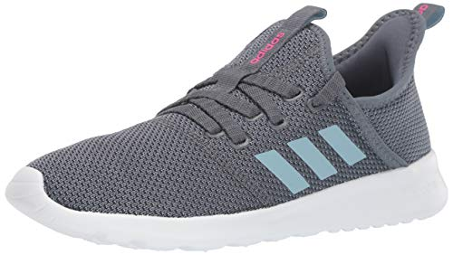 adidas Women's Cloudfoam Pure Running Shoe, Onix/Grey/Shock Pink, 8 Medium US