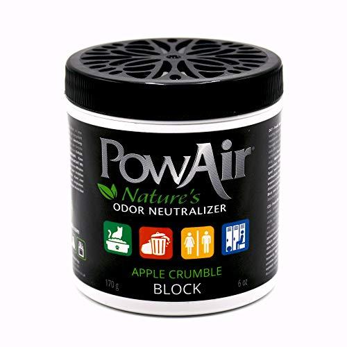 PowAir Block – Forte neutralizzatore di odori industriale. Elimina gli odori e rigenera l'aria in ambienti chiusi e in piccoli spazi. In cera solida, profumo Apple Crumble | durata 1000+ ore | 170g