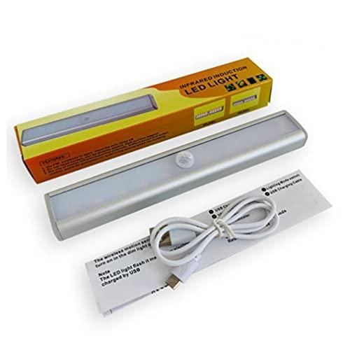 Uniquelove Sensore di Movimento sotto La Luce dell'Armadio 20 LED Luce per Armadio Sensore Magnetico Adesivo per Interni per Armadio Corridoio Corridoio - Doppio Colore
