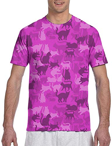 Zoopasa Cat Camo Catmouflage All Over Adult T-Shirt,Cat Camo 07,Medium