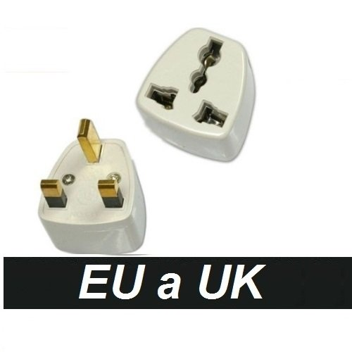 Adaptador Corriente Enchufe España Europa Europeo Europe a UK Irlanda Inglaterra Ireland United Kingdom England
