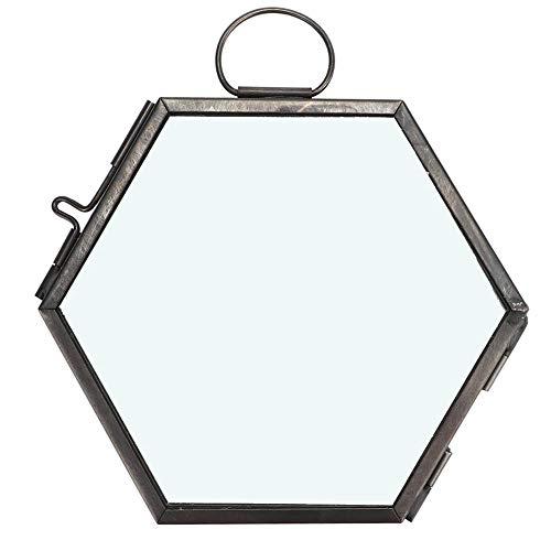 Opknoping geometrische zeshoekige glazen foto fotolijst gedroogde bloem plant specimen Clip Display